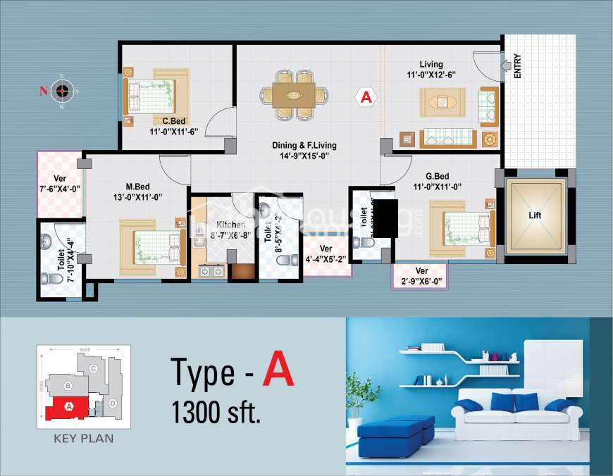 JAPASTY SAKURA HEIGHTS Apartment/Flats Floor Plan