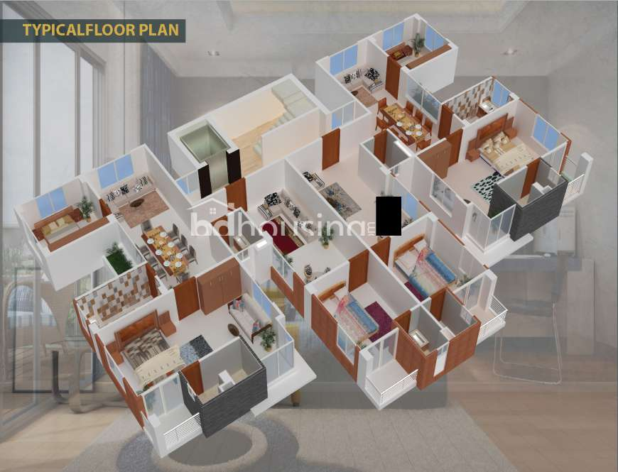 TM Ahsan Palace Apartment/Flats Floor Plan