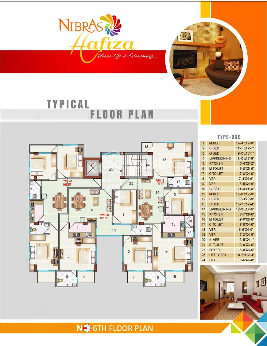 1182 Sqft 3 Beds Under Construction Flat For Sale At