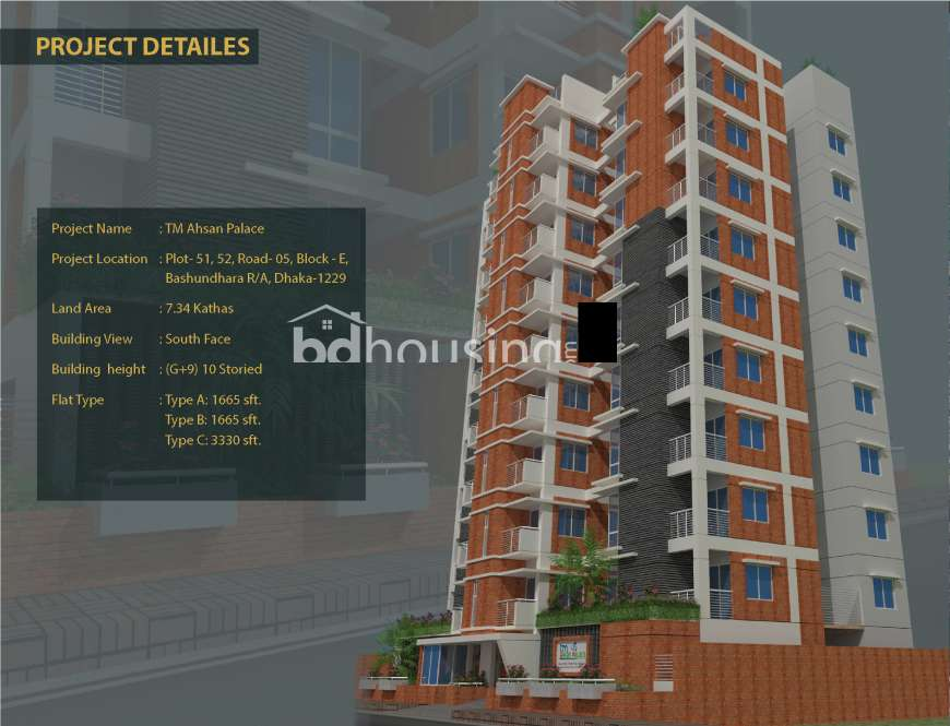 TM Ahsan Palace Apartment/Flats at Bashundhara R/A