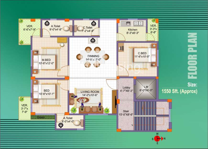 RICHMOND HEAVEN Apartment/Flats at Bashundhara R/A