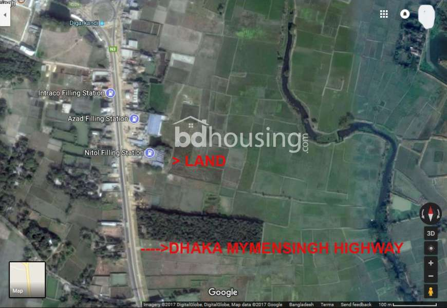 157 Decimal Land in Mymensingh Sadar Upazilla. Commercial Plot at sadar