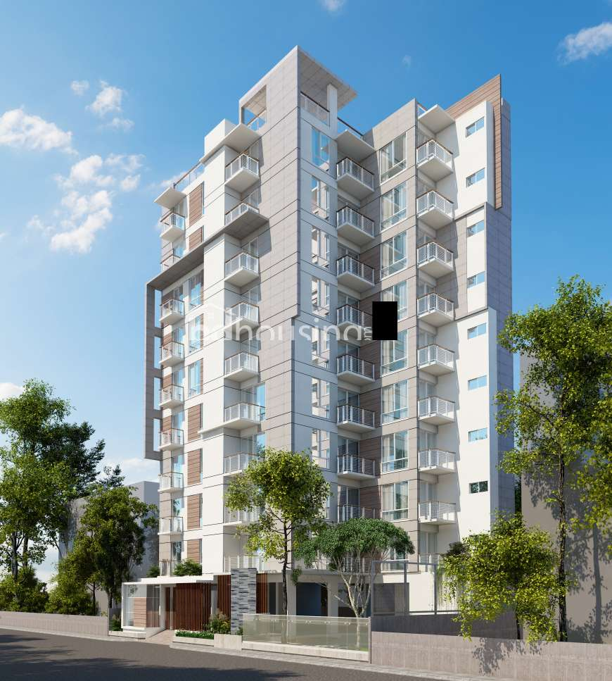 2410sft Ongoing Apt with Gas connection and Lawn. Apartment/Flats at Bashundhara R/A