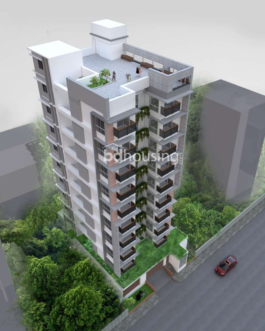 2020 sft single unit Apt @ A Block with Gas connection., Apartment/Flats at Bashundhara R/A