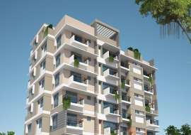 South Facing 1225 sft, 3 Beds Under Construction Apartment for Sale at West Dhanmondi Apartment/Flats at