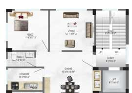 TM Rokeya Apartment/Flats at Bashundhara R/A, Dhaka