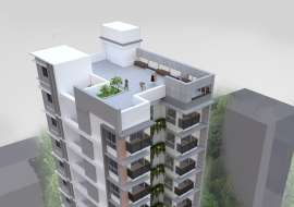 2020 sft single unit Apt @ A Block with Gas connection. Apartment/Flats at Bashundhara R/A, Dhaka